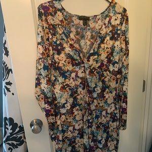 Floral VNeck Dress